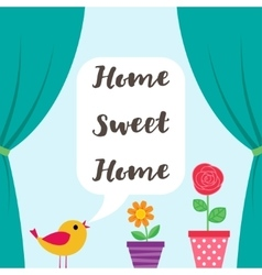 Sweet Home background vector image vector image