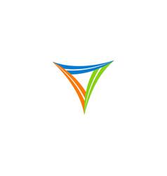 triangle shape circle logo vector image