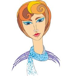 Woman Portret Retro vector image