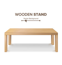 Wooden stand table 3d stand template for vector