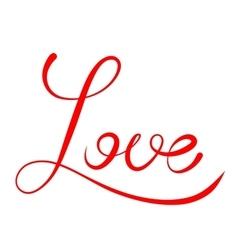 Word Love script vector image vector image