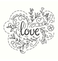 Love Typographics Design vector image