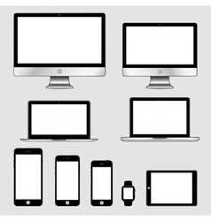 Electronic gadgets isolated vector