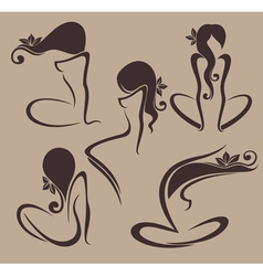 naked and beauty vector image