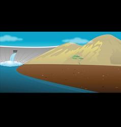 Dam reservoir vector