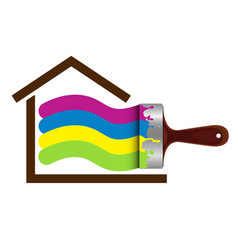 brush for painting house vector image