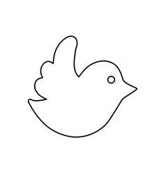 Line dove of twitter icon design vector
