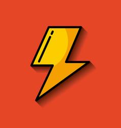 lightning ray or bolt imag vector image