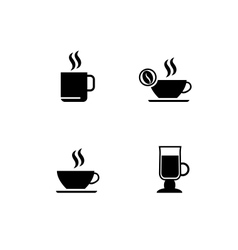 Cup of coffee icons vector