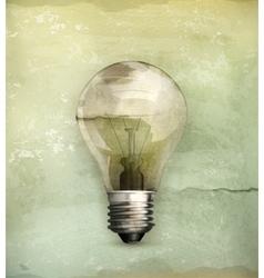 Lightbulb old-style vector
