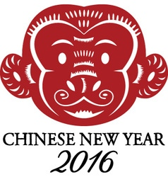 2016 new year of the monkeychinese zodiacchinese vector