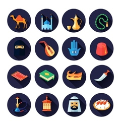 Arabic Culture Icon Flat vector image