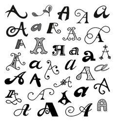Hand drawn letter a vector