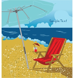 Summer background with long chair vector