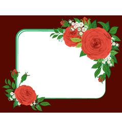 Red roses the vignette vector
