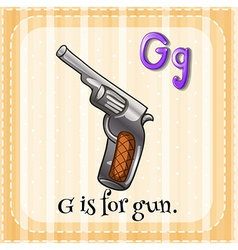 A letter g for gun vector