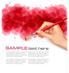 abstract watercolor background with hand vector image