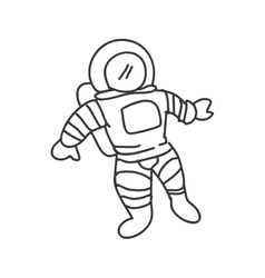 Astronaut icon sketch and science design vector