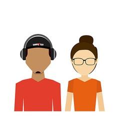 avatar person design vector image
