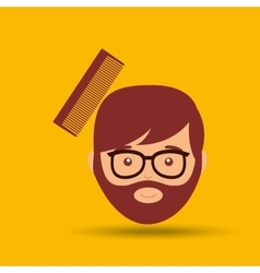 barber shop design vector image vector image