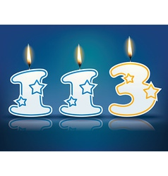 Birthday candle number 113 vector image vector image