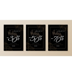 black friday three banners vector image vector image