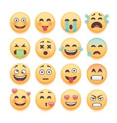 emoticons set emoji set smiley collection vector image