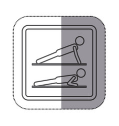 Figure person doing planks icon vector