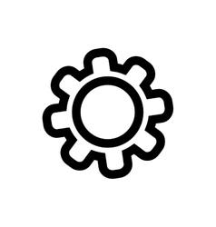 gear piece machinery vector image vector image