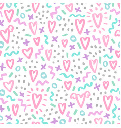 Hand drawn doodle seamless pattern vector
