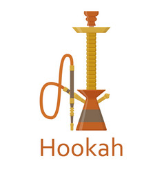 Hookah flat with pipe for smoking tobacco and vector