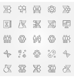 Human cloning icons set vector