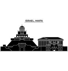 Israel haifa architecture city skyline vector