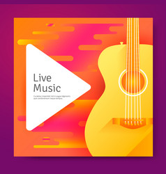 Live music poster vector