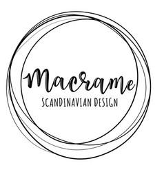 Macrame logo vector