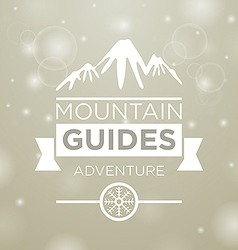 Mountain guides adventure vector