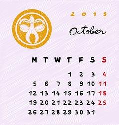 October 2015 zodiac vector