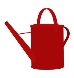 Red watering can vector