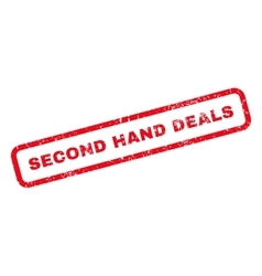 Second hand deals rubber stamp vector