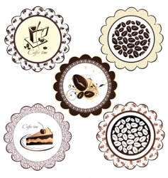 set of coffee background vector image