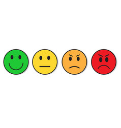 Smiling face evaluation positive and negative vector