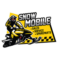 Snowmobile store and garage design vector
