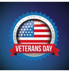 Veterans Day badge vector image