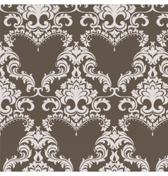 Vintage damask pattern ornament in classic style vector