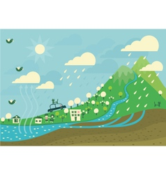 weather cycle vector image vector image