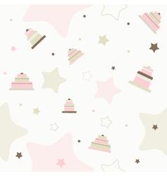 Birthday Cake Pattern Background vector image