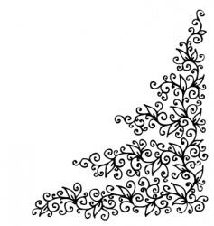 floral vignette Eau-forte vector image