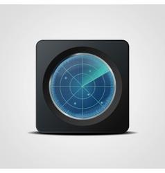 Radar icon vector
