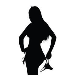Girl silhouette with underwear art vector