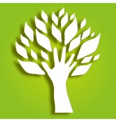 Decorative hand tree vector
